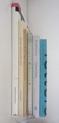 Typography; Lot with 6 books on typography and lettering - 1942 / 1991