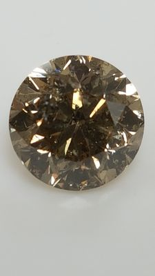 1.51 ct - Round Brilliant - Brown - SI1