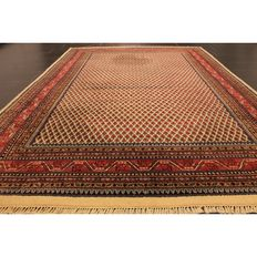 Beautiful hand-knotted oriental carpet, Sarough Mir, 300 x 200cm, made in India at the end of the 20th century.