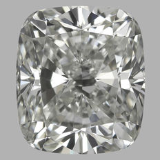 Cushion  Brilliant 1.24ct  I SI1 - EGL USA WITH UGS APPRAISAL -original image-10X