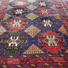 Beautiful semi-antique Oudjian Persian carpet with a Kazakh pattern - 280 x 200 - special carpet