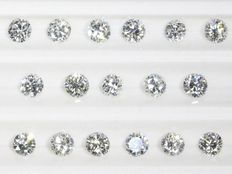 Parcel: 17 brilliant cut diamonds total 0.954 ct E-I vvs-si