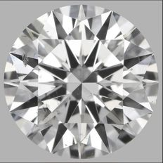 Round Brilliant  0.91ct  D SI2 - EGL USA WITH UGS APPRAISAL-417 #-original image-10X