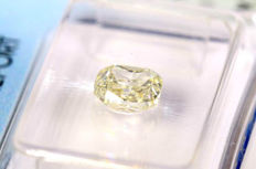 Cushion cut diamond of 1.01 ct, M/P1