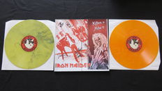 Iron Maiden – Killers In Milan '81 *Limited (300), handnumbered 2LP on YELLOW marbled & ORANGE marbled vinyl* Very hard to find release!