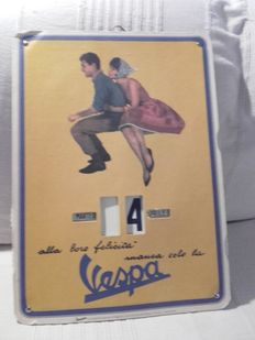 Vespa - Piaggio - advertising perpetual calendar replica
