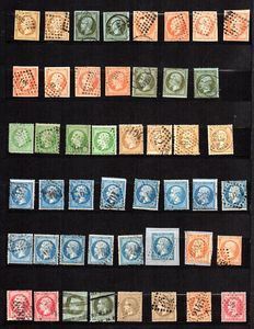 France 1860/68 – Collection of classic stamps –  Yvert between n° 11 et 31