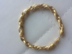 Bracelet in 18 kt gold with unique braided design – Made in Italy
