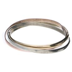 14 k goud Tricolor ring - Diameter: 20,3 mm