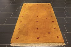 Wonderful Persian carpet Gabbeh wool on wool, Nomad work, made in India, natural colours 120 x 180cm, good condition