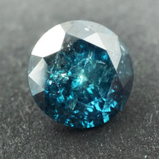 Fancy Blue Diamond - 0.38 ct