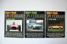 3 Ferrari books with copies from Road & Track