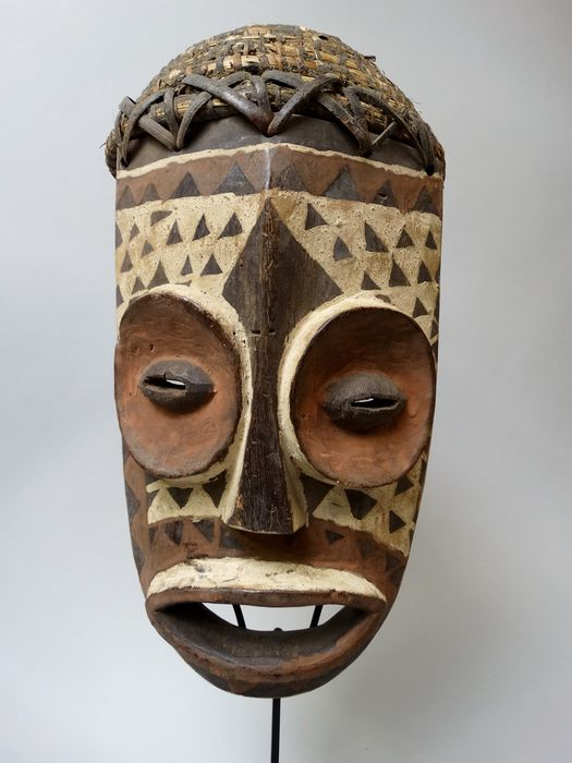 African initiation helmmask Bembe tribe Congo