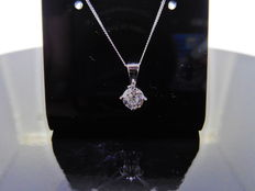 18k Gold Diamond Pendant -  0.40ct  I/J, SI2