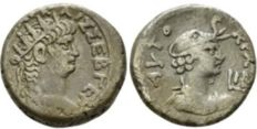 Roman Empire - Egypt, Alexandria Nero, 54-68 Billon Tetradrachm circa 65-66 (year 12)