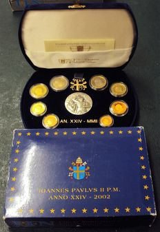 The Vatican – Proof divisional set – 2002 – Jean Paul II (including silver medal)