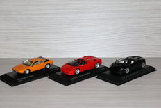 Minichamps - Scale 1/43 - Lot with 3 models: Lamborghini Diablo Roadster, Lamborghini Urraco & Lamborghini Gallardo LP 500-4