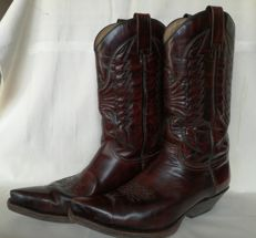 Western boots of the brand Sendra - leather, this century, Spain.