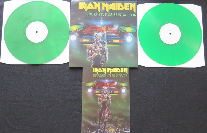 Iron Maiden - The Battle Of Bristol 1986: Very limited (300 copies), numbered 2LP on GREEN vinyl, includes replica tourbook