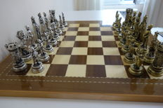 Giant chess - Marinakis brothers. The Hundred Years' War