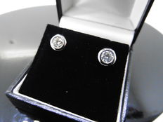 18k Gold Solitaire Diamond Stud Earrings - 0.50ct