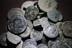 Roman Empire – Lot of 40 coins The majority Roman; some Medieval and pre-coin