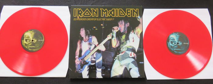 "Iron Maiden ‎– Do Androids Dream Of Electric Sheep? * 2LP, limited edition on RED vinyl (150 copies only) -Newcastle ""City Hall"" 25 October 1986-"