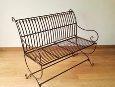 Large wrought iron bench, Europe, end of 20th century