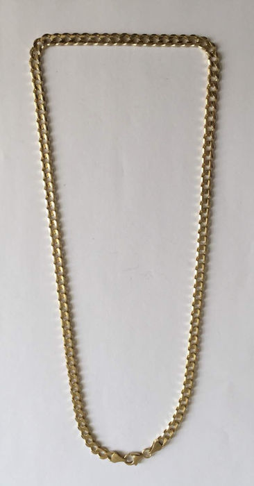 Gold necklace gourmet necklace 14 kt 585