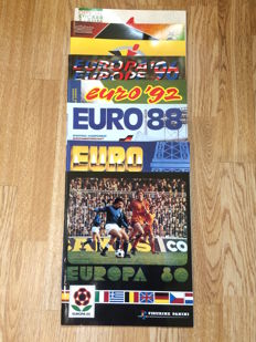 Panini - 8 'reproduction' albums of the 1980 to 2008 euros.