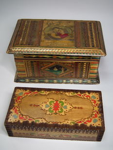USSR/Russia -  Two wooden hand-made boxes