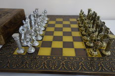 Ancient Hellenic chess made of bronze