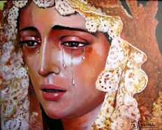 Oil painting from the Virgin Mary - Spain