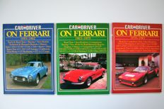 3 Ferrari books with copies of Car and Driver
