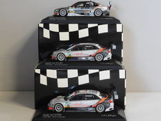 Minichamps - Scale 1/43 - Lot with 3 x Audi A4 DTM 2006
