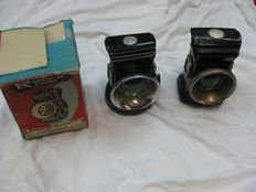 Rolex - 2 bicycle oil lamps NOS (New Old Stock) - 1 oil lamp with the original box
