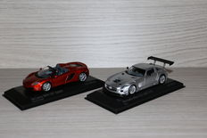 Minichamps - Scale 1/43 - Mercedes SLS AMG GT3 2011 & Mclaren MP4- 12C Spider 2012