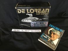 DELOREAN Sterio cassette radio / new book about John DeLorean / original sticker