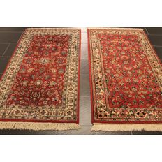 Oriental carpet Indo Bidjar Herati 2 x 160 x 90cm, made in India at the end of the last century, Tappeti carpet