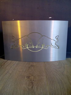 Red Bull - lichtreclame / RVS - Lightbox / Stainless steal - 30 x 50 x 10