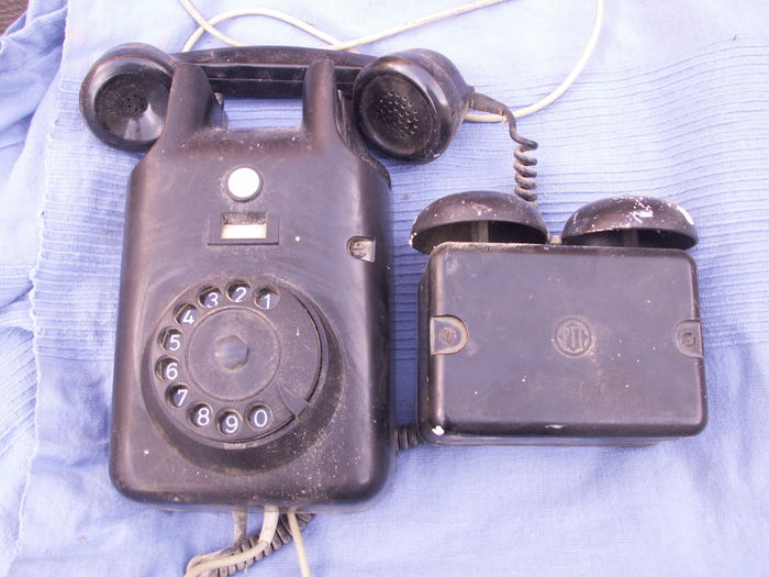 Old bakelite telephone
