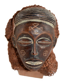 African hand mask - CHOKWE - D.R Congo