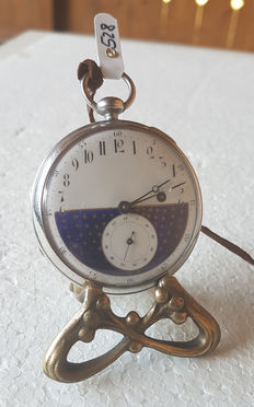Swiss verge pocket watch – day and night display – springing hour – um 1800