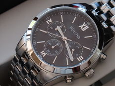 Bulova sport black dial chrono  sport watch