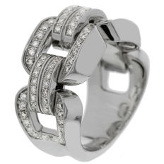 "CHimento - ""Febo"" women's ring white gold with diamonds - ring size (54) 17.25"