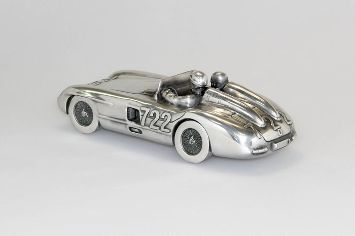 Decorative object - Rare 1/12 sculpture of the Mercedes-Benz 300 SLR MM - 1955