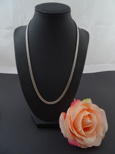 925k silver shiny curb link necklace - 50.7 cm