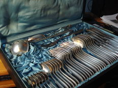 45-Piece '90' Silver-Plated WMF Cutlery Service, Pattern No. 1600, Acanthus Leaf, For 6