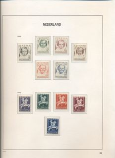 The Netherlands 1945/1988 - Collection in Davo and Safe album, stamp folder and FDCs