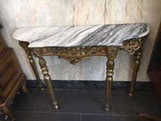 Gilded Side Table from the First Half of the 20th Century